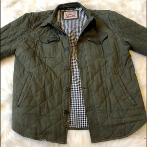 Levi's diamond quilted cotton shirt jacket